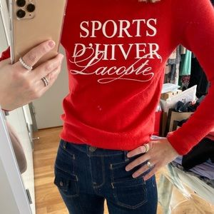 Lacoste Long Sleeve Sports D'Hiver Wool Sweater